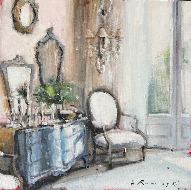Interior With the Blue Commode  by Hanna Ruminski