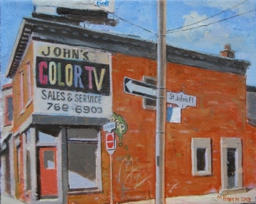 John's Color TV, The Junction Toronto by Michael Harris