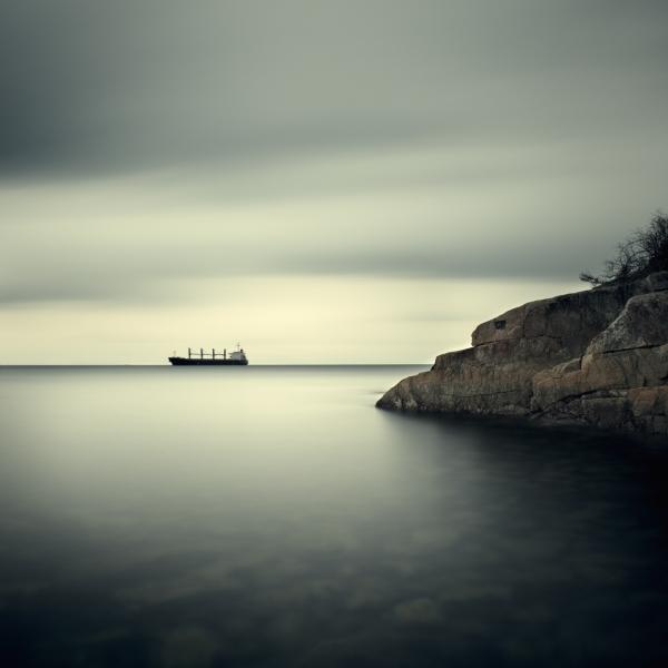 Salish Sea, Study 2 #32 1/10 by David Ellingsen