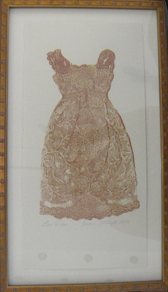 Lace Dress (Gold) by Susan Fothergill