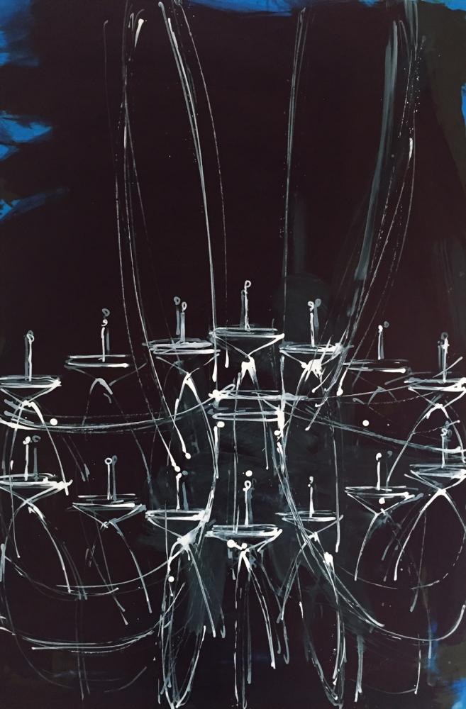 Blue Chandelier 2 by Daniel Schneider