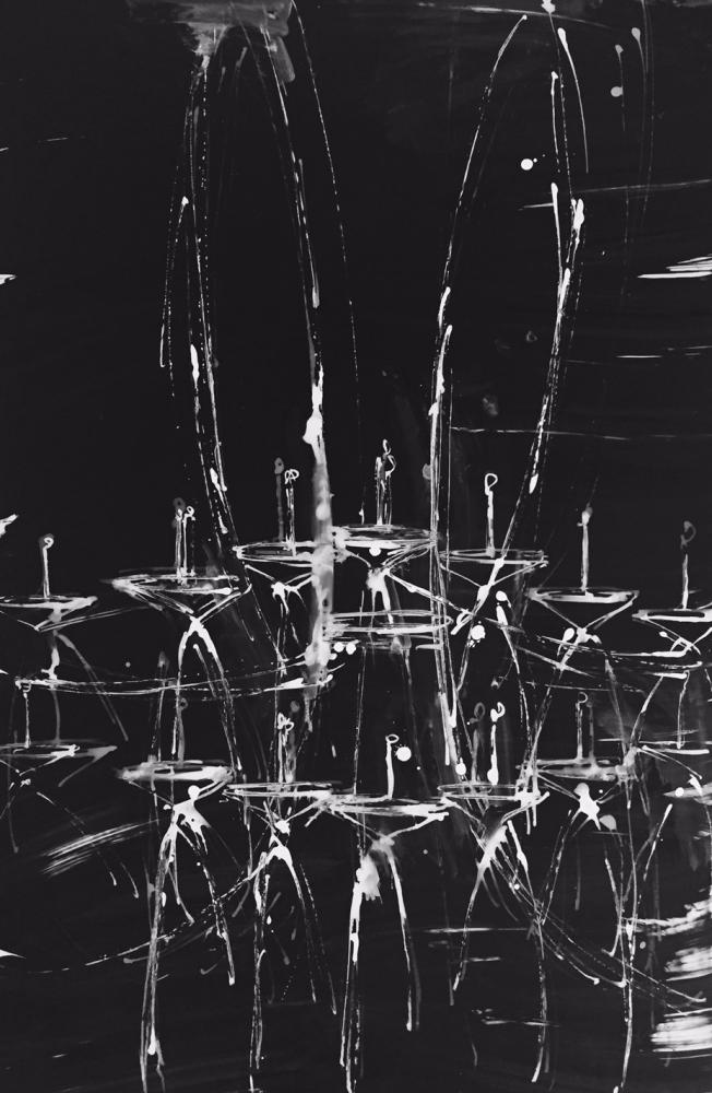 Black Chandelier 4 by Daniel Schneider