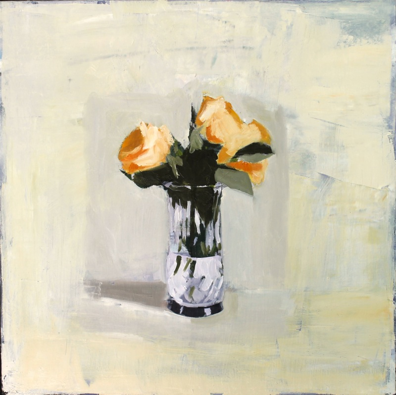 Yellow Roses  by Hilda Oomen