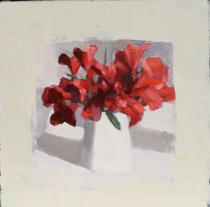 Red Alstroemeria  by Hilda Oomen
