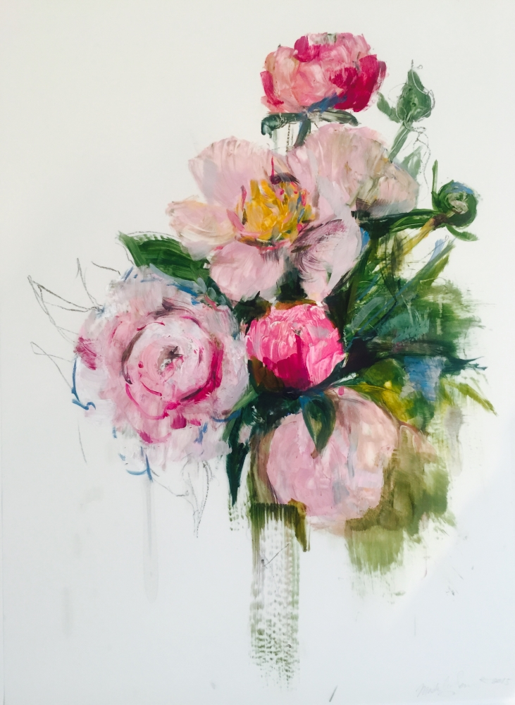 Pink Bouquet I by Madeleine Lamont