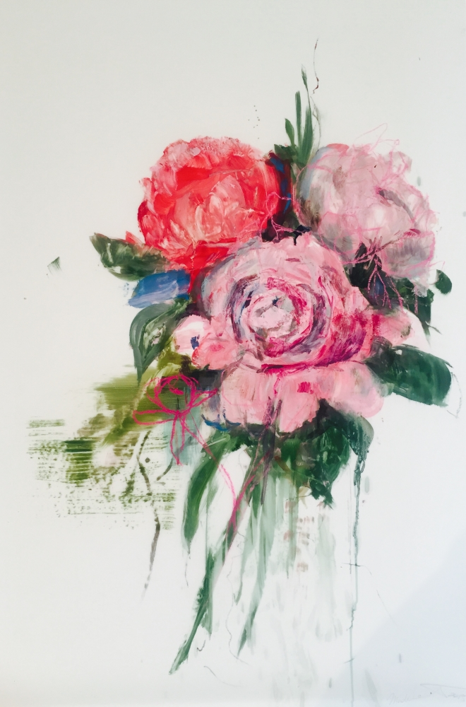 Pink Bouquet II by Madeleine Lamont