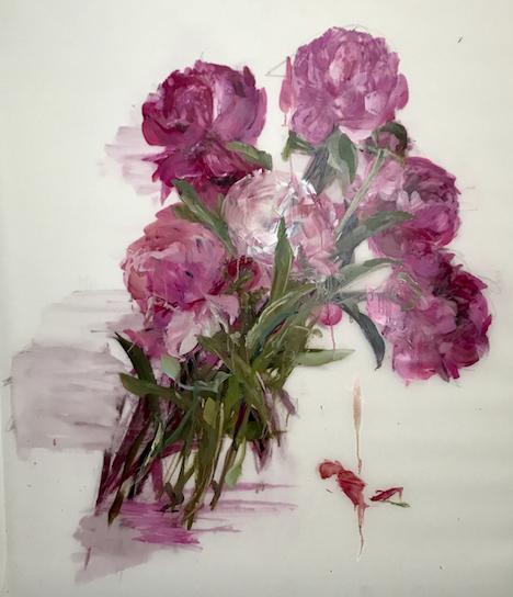 Scroll Magenta  by Madeleine Lamont