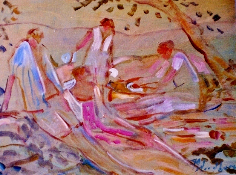 Picnic in the Shade  by Susan McLean Woodburn