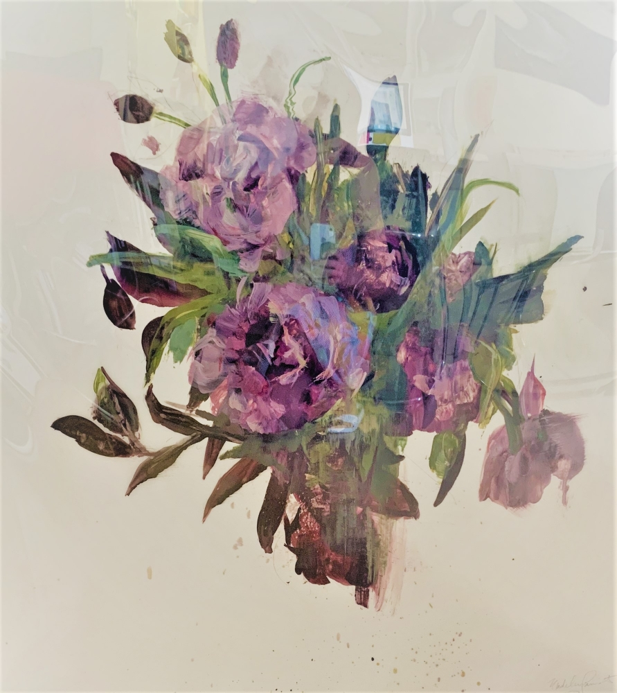 Purple Bouquet IV by Madeleine Lamont