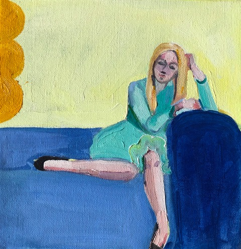 Blue Couch by Frances  Hahn