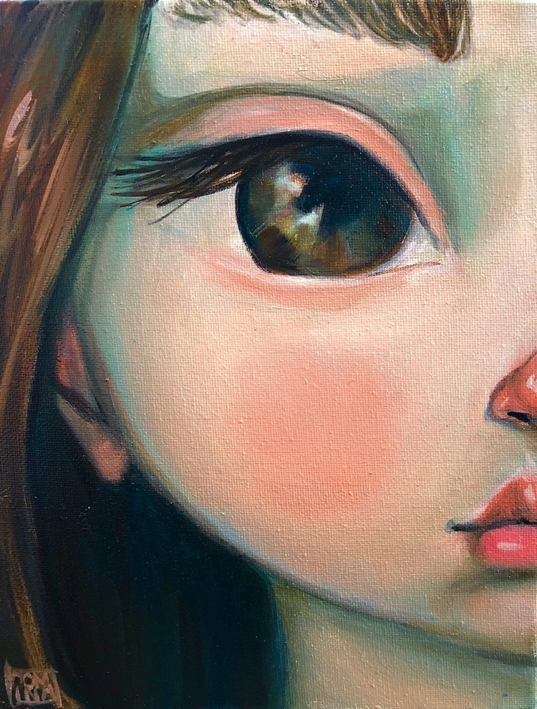 Brunette Study by Kate Domina