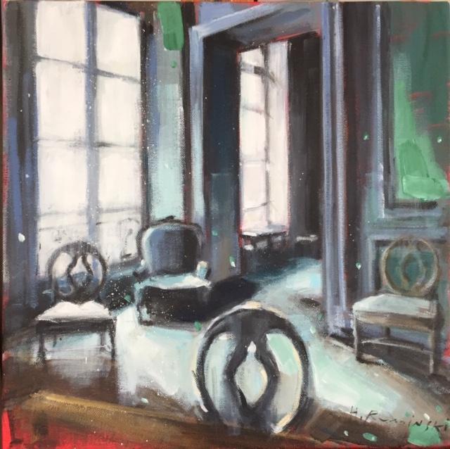 Parisian Apartment with Four Chairs by Hanna Ruminski