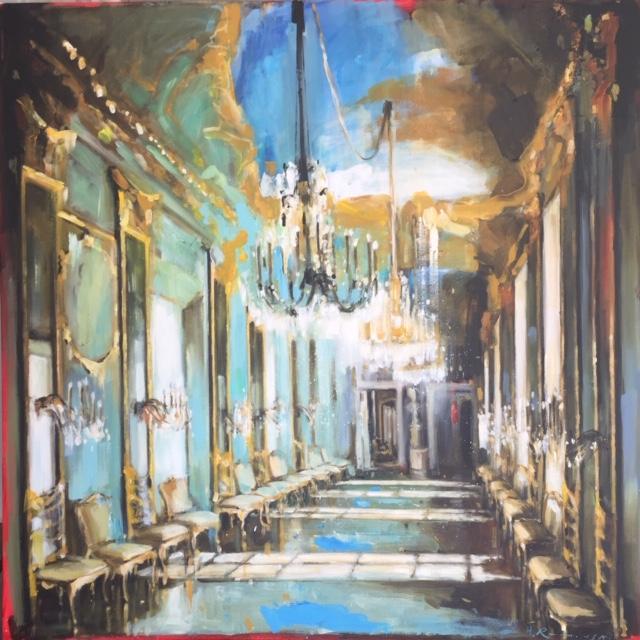 Palazzo Reale Gallery of Mirrors II by Hanna Ruminski