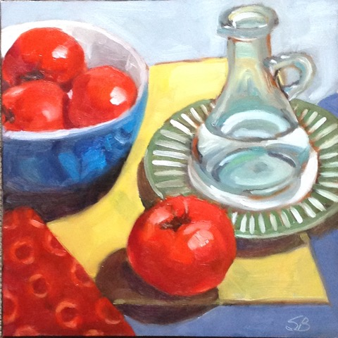 Tomatoes 1 by Sonja  Brown