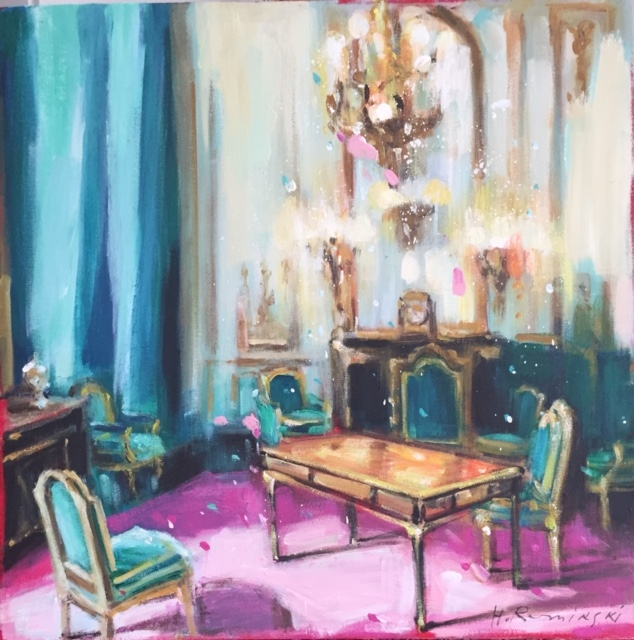 Game Room in Emerald by Hanna Ruminski