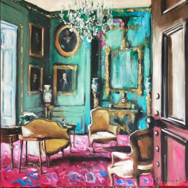Parisian Apartment in Turquoise and Pink by Hanna Ruminski