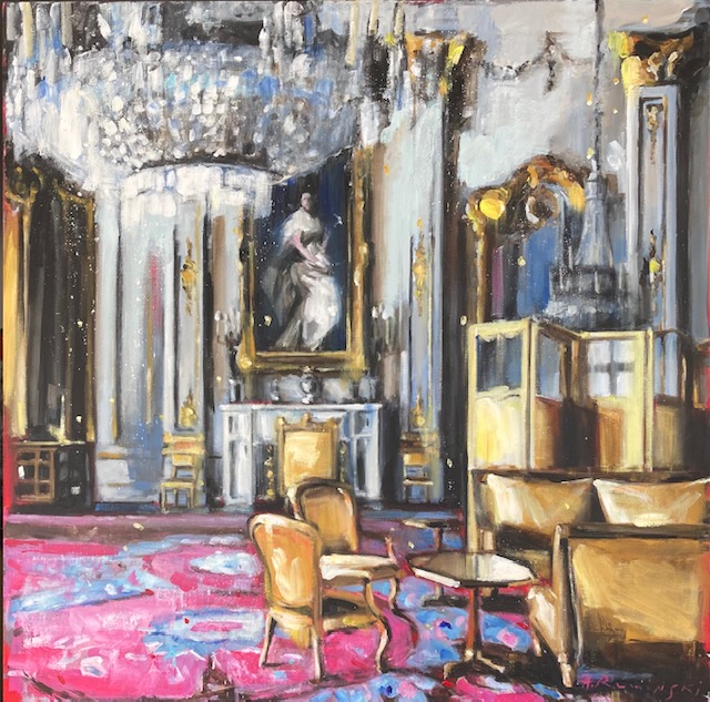 Royal Apartment in Gold and Rose by Hanna Ruminski