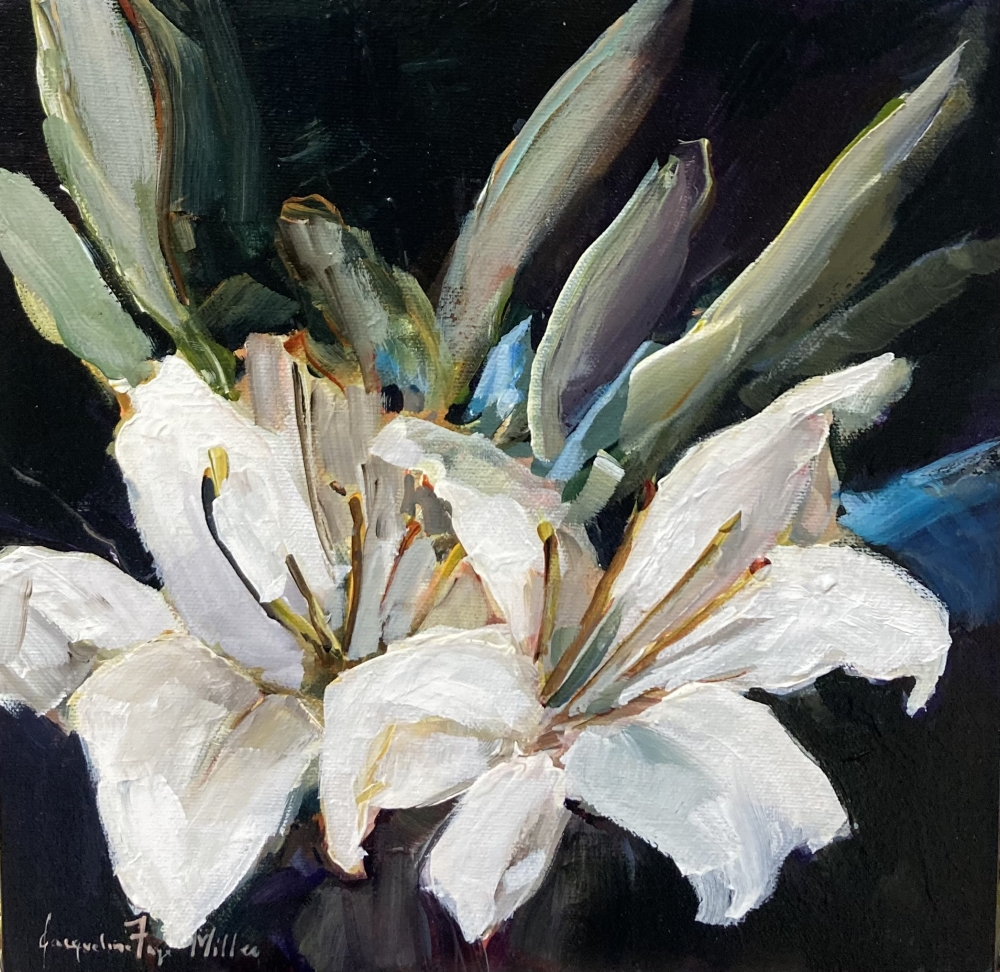 Lillies in the Night by Jackie  Miller